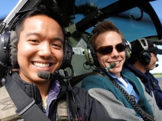 Flying over the Big Island in a helicopter. Our guide Dylan was excellent.