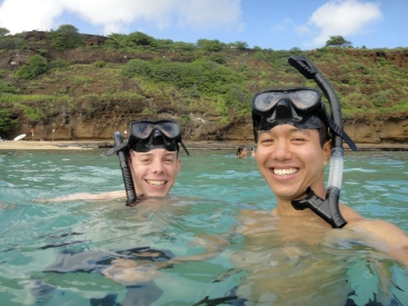Rick and me, snorkelling