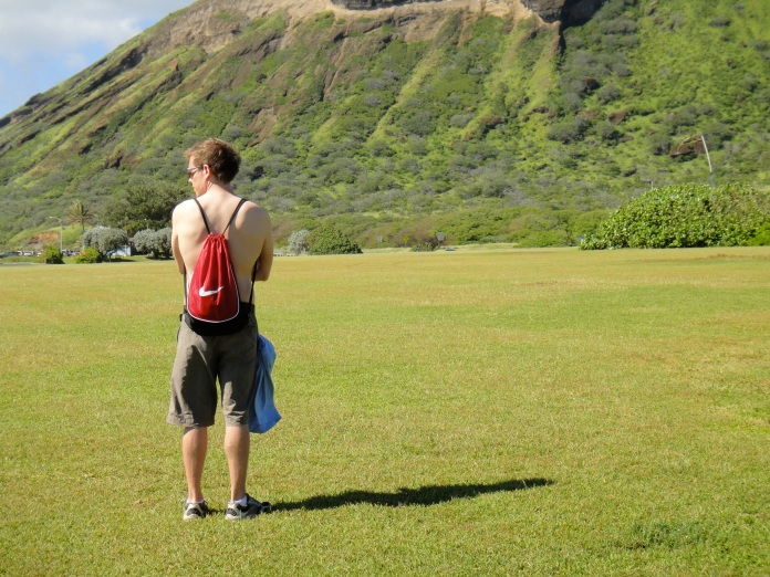 Me, just before we started our hike.