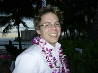 On the beach in Waikiki, January, 2005