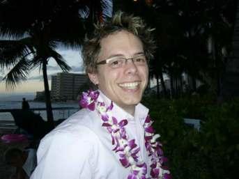 On the beach in Waikiki, January, 2005