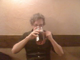 Beer in Prague, Czech Republic. They like things big here.