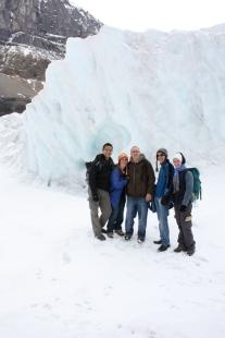 Athabasca Glacier with Rick, Manon, Mark, and Nadia, September 2010