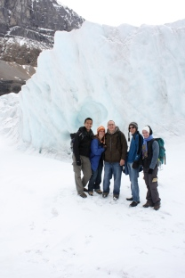 Athabasca Glacier with Rick, Manon, Mark, and Nadia, September 2010