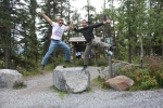 Epic flying High Five with Rick, Yamnuska, September 2010
