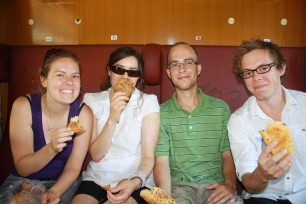 Heading to Austria; Dani, Hez, Matt, and me
