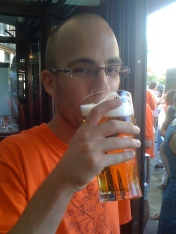 Beers in Amsterdam, Netherlands during the World Cup, June 2010