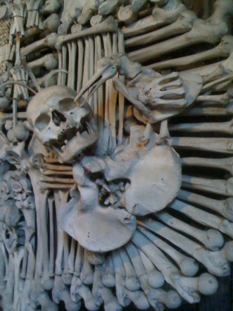 The bone church in Kutna Hora, Czech Republic, June 2010