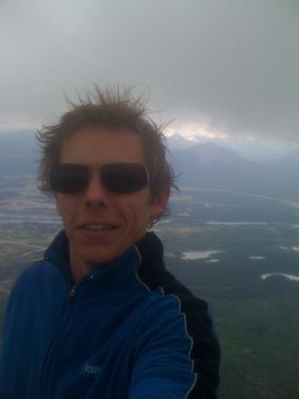 At the top of Mt. Yamnuska, near Calgary, Alberta, September 2010