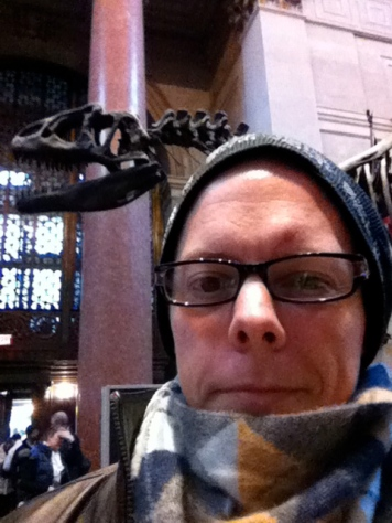Be very, very quiet. There's a dinosaur behind me.