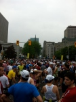 The crowd was crazy. Thousands of insane people running 42.2 km.