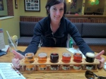 The beer sampler. My favourites (counting from left to right): 3, 6, 5, 2, 1, 4.