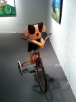 Just riding my bike. At a local museum.