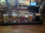 A beer sampler at the Red Stag bar (part of the Keith's brewery).