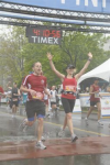 The drowned rat crosses the finish line.