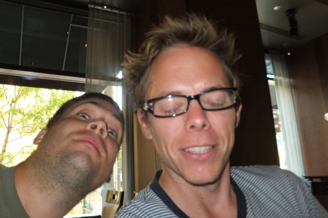 """Ben and I after """"Death in the Afternoon"""""""