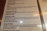Sampling the brews at the Revolution Brewing pub. Check out the quote for the Anti-Hero IPA.