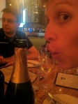 Steph and the sparkling wine