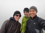 Group shot at the top. White out conditions behind us. Awesome.