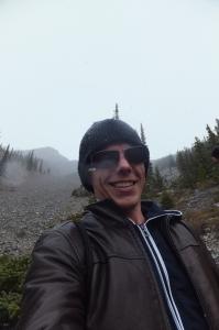 Coming down the mountain. Scree'ing is fun.