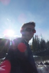 Elbow falls - caught in the sun.