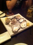 Raw oysters. W00t!