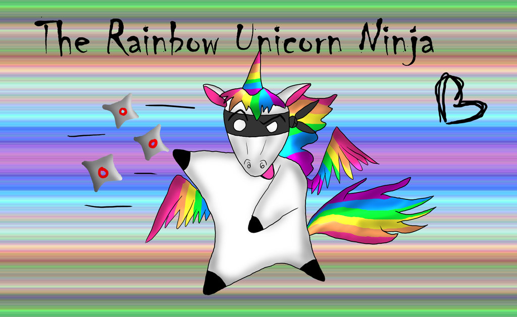 Rainbow Ninja Unicorn
