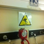 Caution - slipping or breakdancing may occur in this room (thanks Mike).
