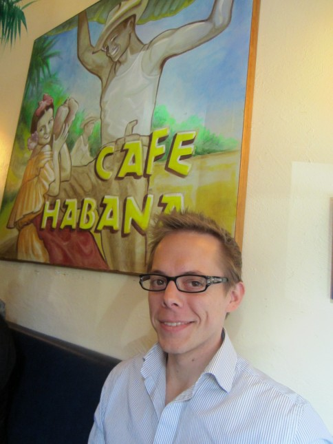 At Cafe Habana for lunch
