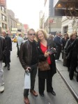 Gerarda and me, outside the Barrymore theatre