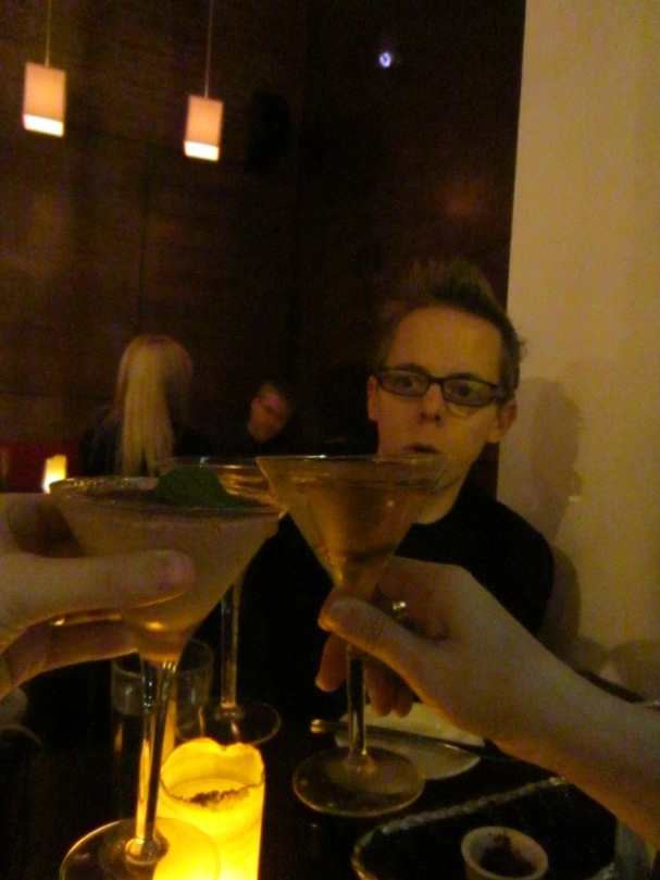 Martini's at Ayza. Gerarda and I opted for Chocolate Almond. Steph's was chocolate something something.
