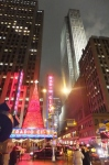 Radio City Music Hall lit up for Christmas