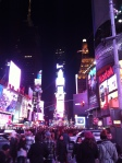 Times Square. Crowded. Gaudy. Excellent.