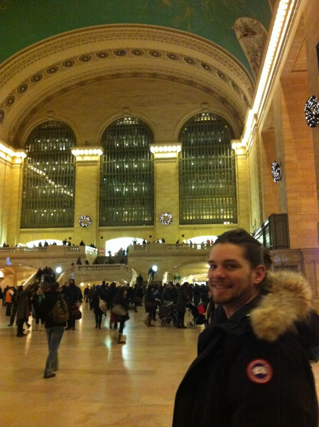 Checking out the constellations on the ceiling of Grand Central Station