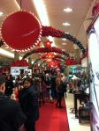 Macy's - all decked out in Christmas spirit. And cologne apparently.