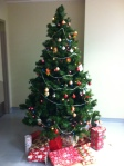 The hospital version of the Gillis Family Christmas Tree