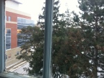 The view from my window. The office overlooks Gordon. To the left is the new Science Complex.
