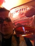 Enjoying a scotch at Massey Hall prior to the show.