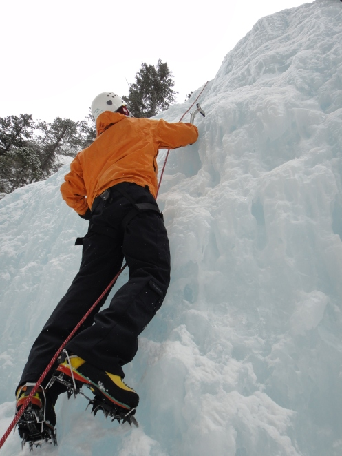 Getting my climb on.