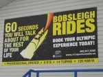 Bobsleigh rides: diapers not included.