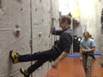 Descending the wall. Doing this in jeans was not as comfortable as it might appear.