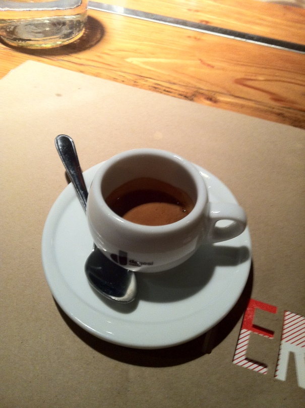 And to finish it all off - a perfect espresso.