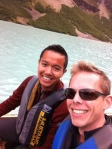 Canoeing Lake Louise. I'll remember this for the beauty, the colour of the water, the glaciers, and the most obnoxious families from Texas and Washington.