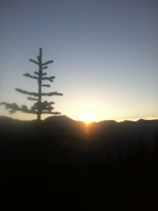 Sunrise as we aim to make the summit of Mount Fairview.
