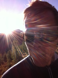 Hiking to the peak of Mount Fairview. Enjoying the sunshiny goodness.