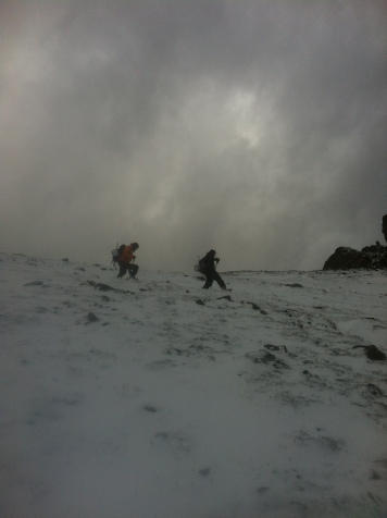 Rick and Paul descending from Sentinel Pass.