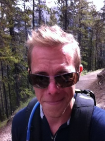 Hiking up Sulphur Mountain - our last mountain to conquer.
