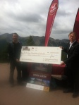 Rick receiving the cheque for The Kidney Foundation of Canada. This felt AMAZING.