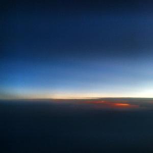 Sunset on my flight home.
