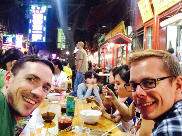 Dinner in the Muslim District with Peter